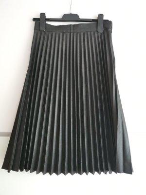 Zara Woman Pleated Skirt dark grey