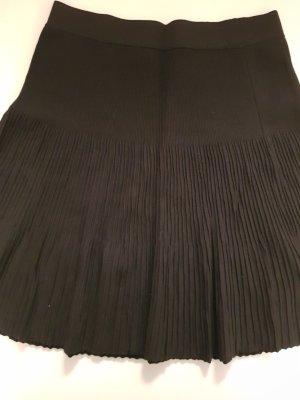 Promod Pleated Skirt black viscose