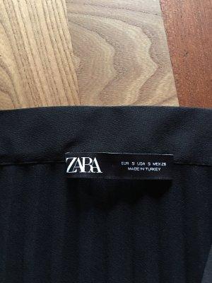 Zara Woman Pleated Skirt black