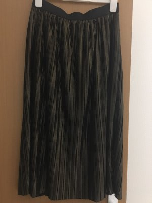 Pleated Skirt bronze-colored