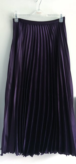 Asos Pleated Skirt dark violet