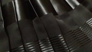 Plaid Skirt black mixture fibre