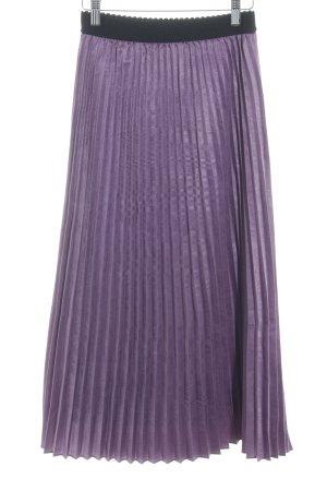 Pleated Skirt lilac-black elegant