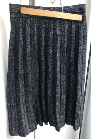 Drole de copine Pleated Skirt black-silver-colored cotton