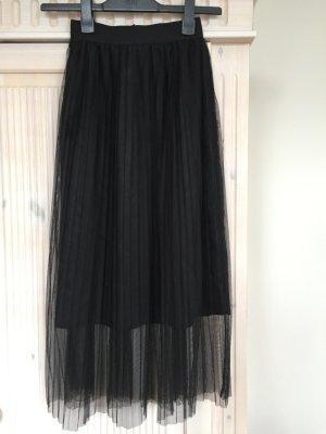 Plisseerock Rock Zara Größe 36 schwarz