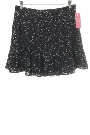 Pleated Skirt black-white spot pattern elegant