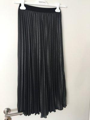 H&M Falda plisada gris-gris claro Poliéster