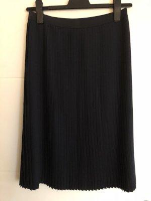 Opus Pleated Skirt dark blue