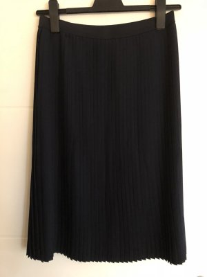Opus Pleated Skirt dark blue polyester