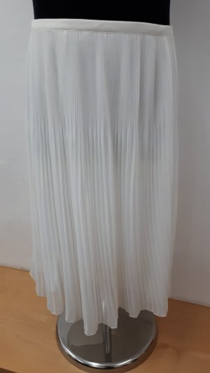 Zara Pleated Skirt white-natural white