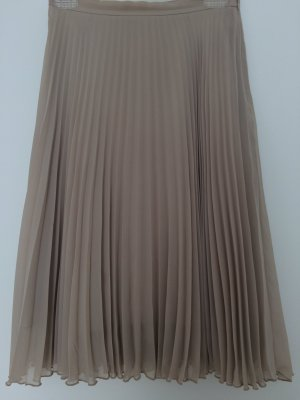Pleated Skirt cream polyester