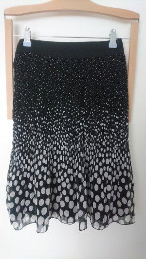 Promod Pleated Skirt black-white