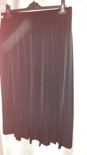 Geplooide rok zwart Polyester