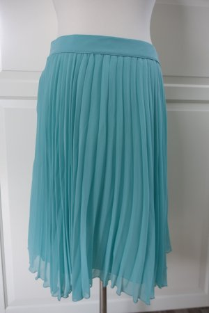 Zara Woman Jupe plissée turquoise polyester