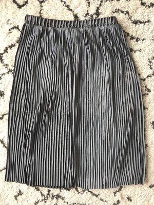 Zara Jupe plissée noir-argenté