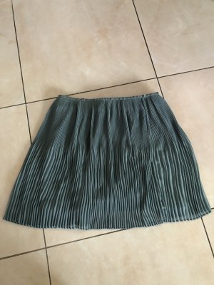 H&M Pleated Skirt pale blue-slate-gray