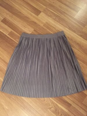 Jacqueline de Yong Pleated Skirt light grey-grey polyester