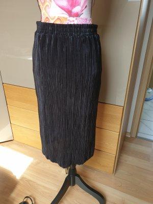 Vila Pleated Skirt black-silver-colored