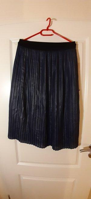 Promod Geplooide rok donkerblauw