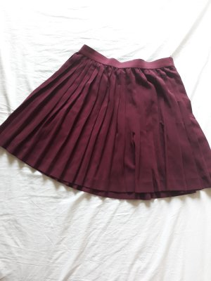 H&M Pleated Skirt blackberry-red-purple
