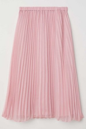 H&M Pleated Skirt light pink