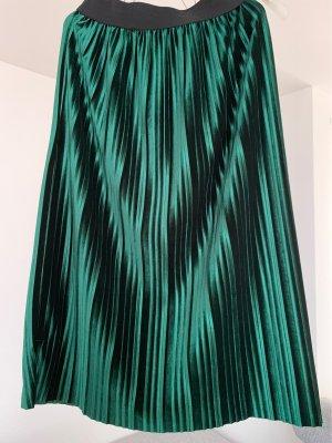 Plaid Skirt forest green