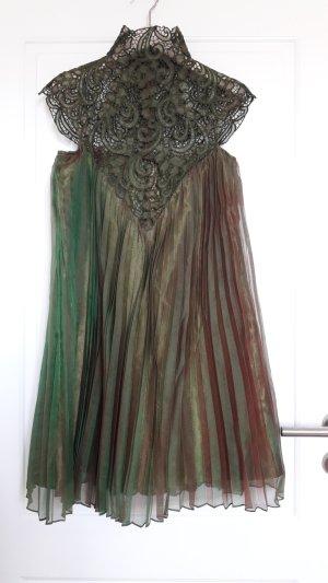 Plissiertes Kleid mit Spitze, Gr. 34