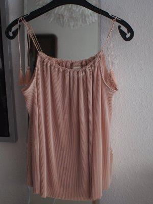Plissiertes rosa Top