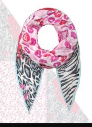 Plomo o Plata Dreieckstuch Lippen/Kuss/Zebra/Leo/ pink  oversized