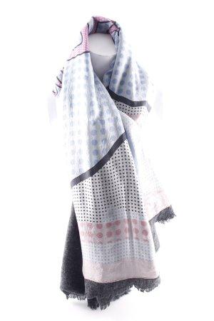 Plomo o plata Sjaal met franjes donkergrijs gedrukte letters