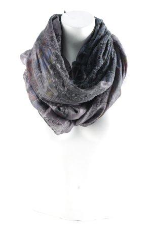 Plomo o plata Pañoleta lila grisáceo-negro Patrón cómic look casual