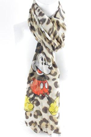 Plomo o plata Pañoleta negro-marrón claro estampado de leopardo look casual