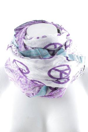 Plomo o plata Foulard blanc-violet Motif d'étoiles style décontracté