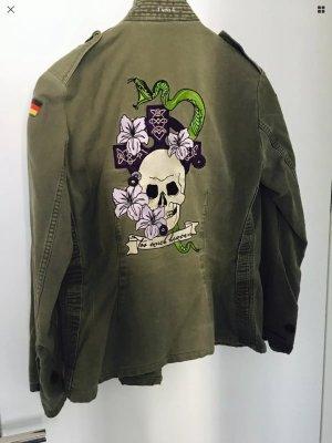 ❤️PLOMO O PLATA Original ARMY jacket mit Stickerei skull❤️❤️