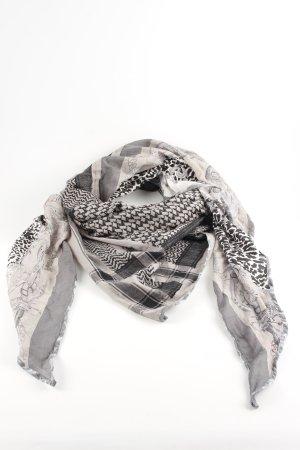 Plomo o plata Shemagh light grey-cream check pattern casual look