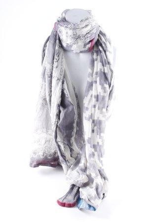 Plomo o plata Pashmina grijs-wit Patroon-mengeling hippie stijl