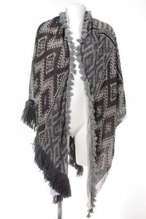 Plomo o plata Poncho ethnic pattern casual look