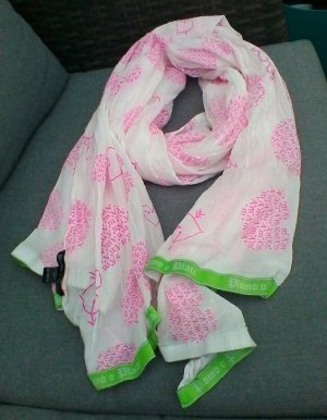 Plomo o Plata schal weiß-pink