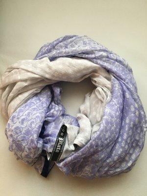 PLOMO o PLATA sehr großer Schal in Lila und weiß, neu und ungetragen