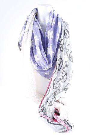 Plomo o plata Silk Scarf allover print hippie style