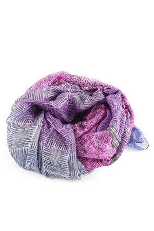Plomo o plata Bufanda de seda lila-rosa look casual