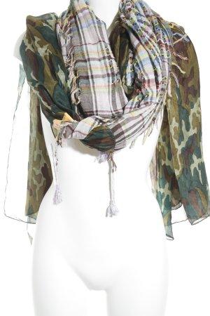 Plomo o plata Zijden sjaal camouflageprint casual uitstraling