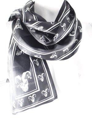 Plomo o plata Seidentuch schwarz-weiß Motivdruck extravaganter Stil