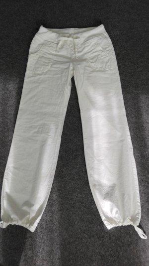 Vero Moda Pantalón de lino blanco
