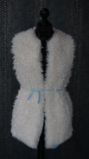 Fake Fur Vest white