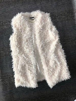 Vest van imitatiebont wit