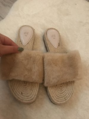 H&M Heel Pantolettes beige-pink