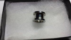Plug Tunnel Silber Stahl 12mm