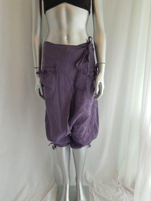 Desigual Pantalón de lino multicolor Lino
