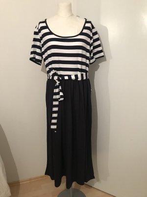 Plus Size Kleid Gr.48 NEU blau Streifenkleid Gr.XXL